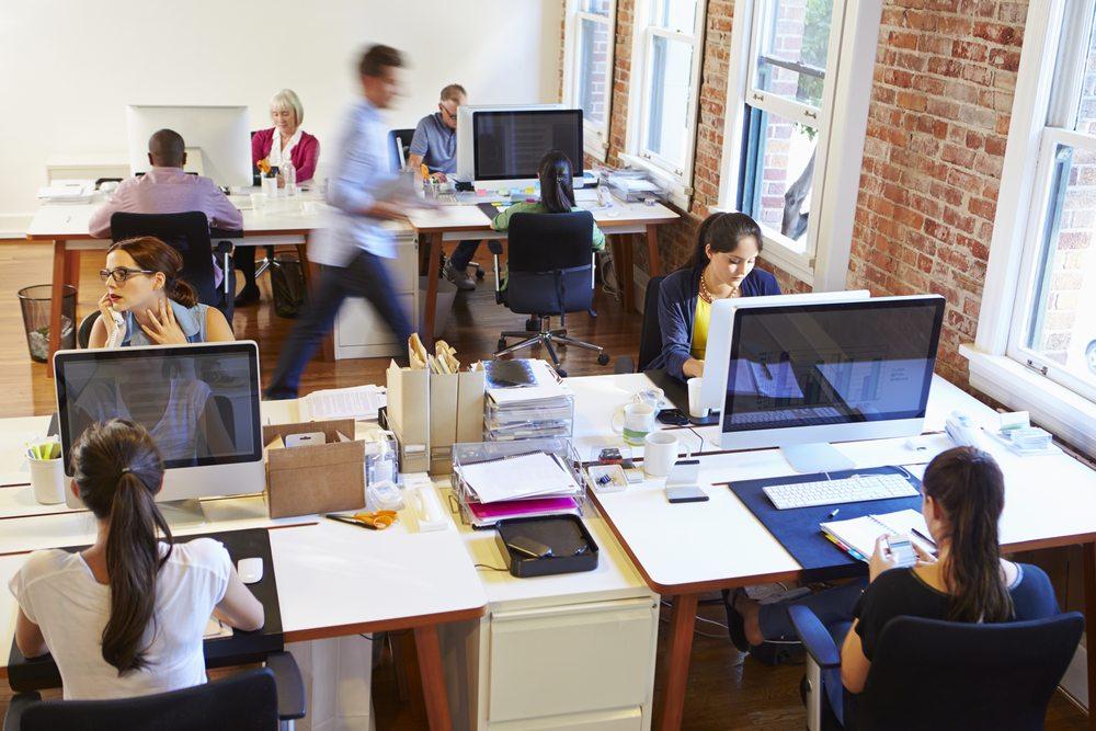 open office workspace