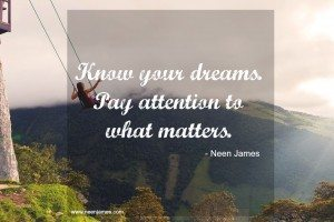 dreams goals attention