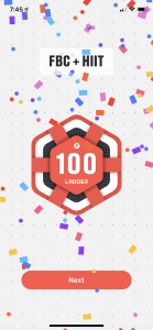 100 Workouts on Ladder Team Apps